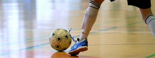 Futsal player handling the ball