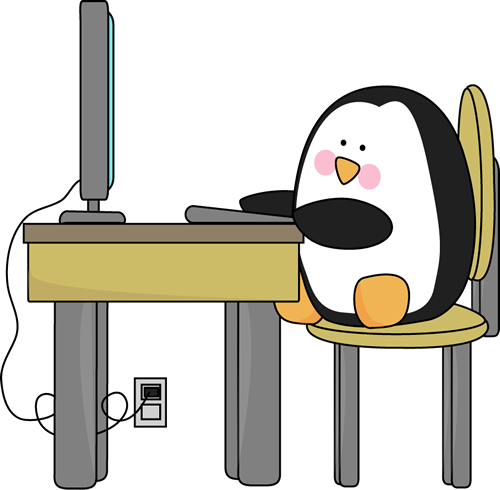 Penguin on a computer