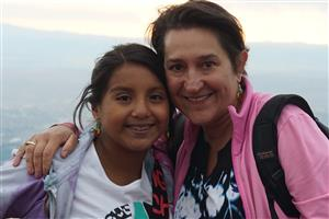 My daughter Rosa and I in New Mexico