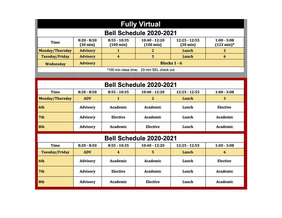 Forsythe Virtual Schedule
