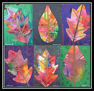 Student artwork - leaves
