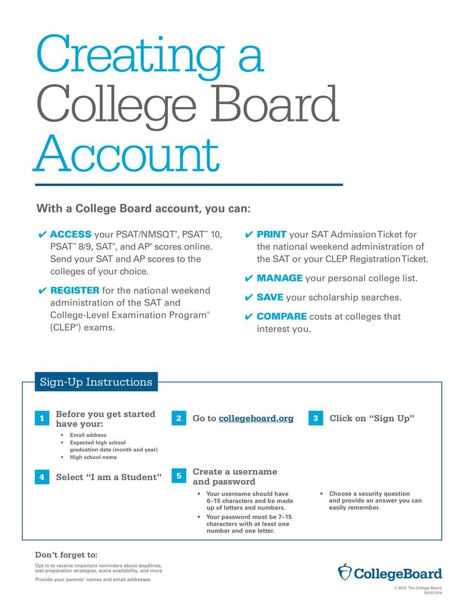 SAT Test Prep / How to Create your College Board Account