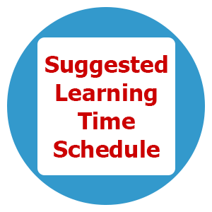 Suggested Learning Time Schedule