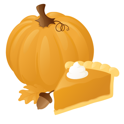pumpkin & pie graphic