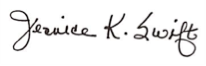Dr. Swift's signature