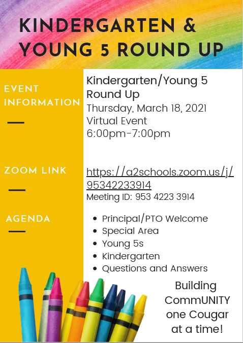 Kindergarten and Young 5 Round Up Flyer