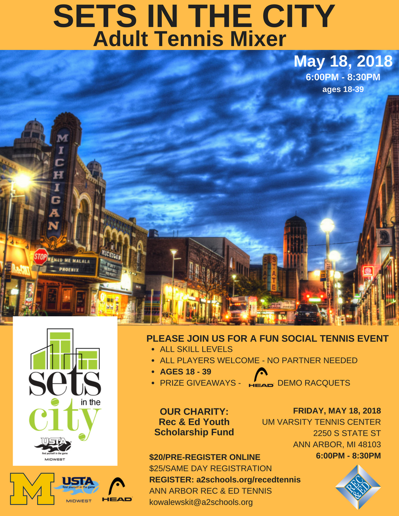Sets In The City - Adult Tennis Mixer