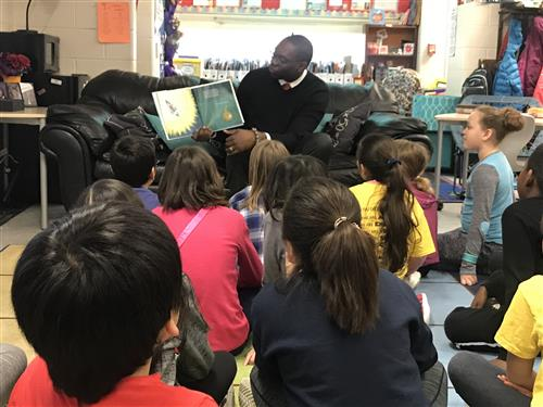 Lt. Governor Reading to our class